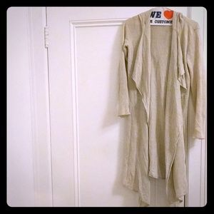 Saks fifth ave xs linen hooded duster cardigan